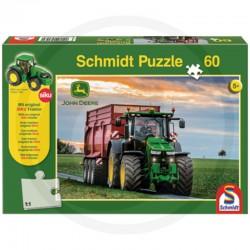 Dėlionė Schmidt John Deere Puzzle with SIKU tractor