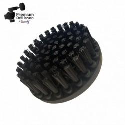 Profesionalus valymo šepetys Premium Drill Brush - ypač kietas, juodas, 13 cm
