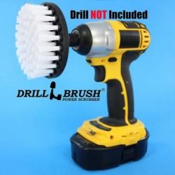 """""""DRILL BRUSH"""" White itin minkštas šepetys suktukams ir gręžtuvams, 10 cm"""