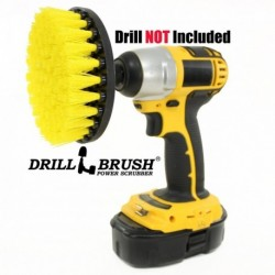 """""""DRILL BRUSH"""" Yellow minkštas šepetys suktukams ir gręžtuvams, 13 cm"""