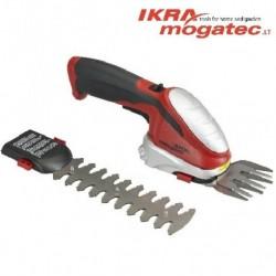 Akumulatora zāles un dzīvžogu šķēres 7.2 V Ikra Mogatec GBS 9054 Li