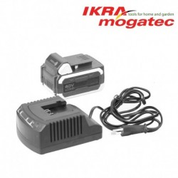 "A charger for a 40 V ""Ikra"" battery"