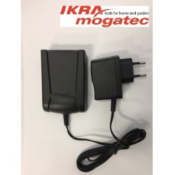 "A charger for a 20 V ""Ikra"" battery"