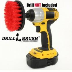 """""""DRILL BRUSH"""" Red kietas šepetys suktukams ir gręžtuvams, 10 cm"""